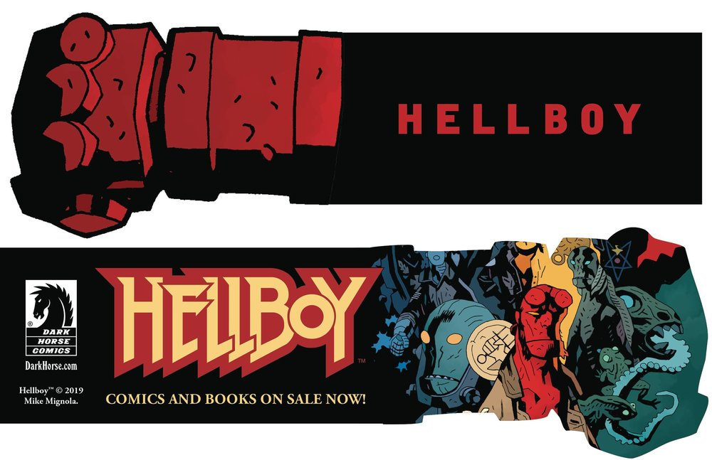 HELLBOY DAY 2019 RIGHT HAND OF DOOM BOOKMARK