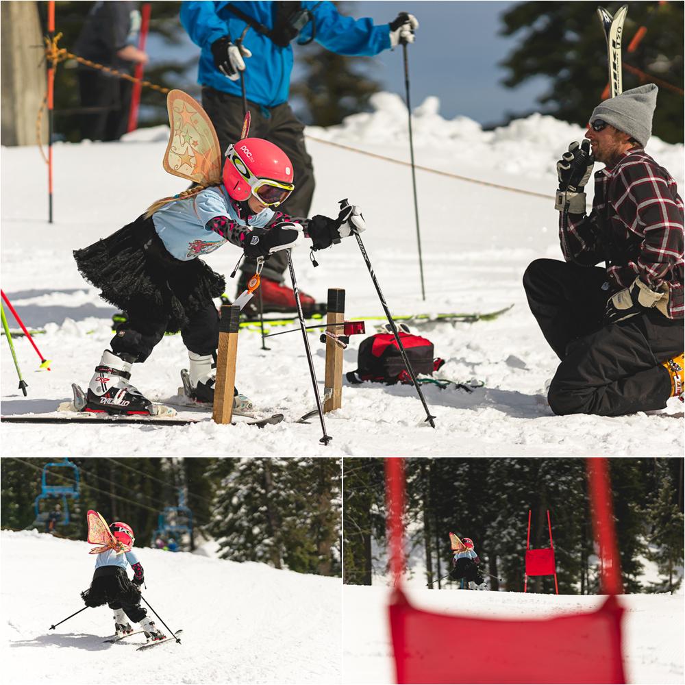 child skiing photo