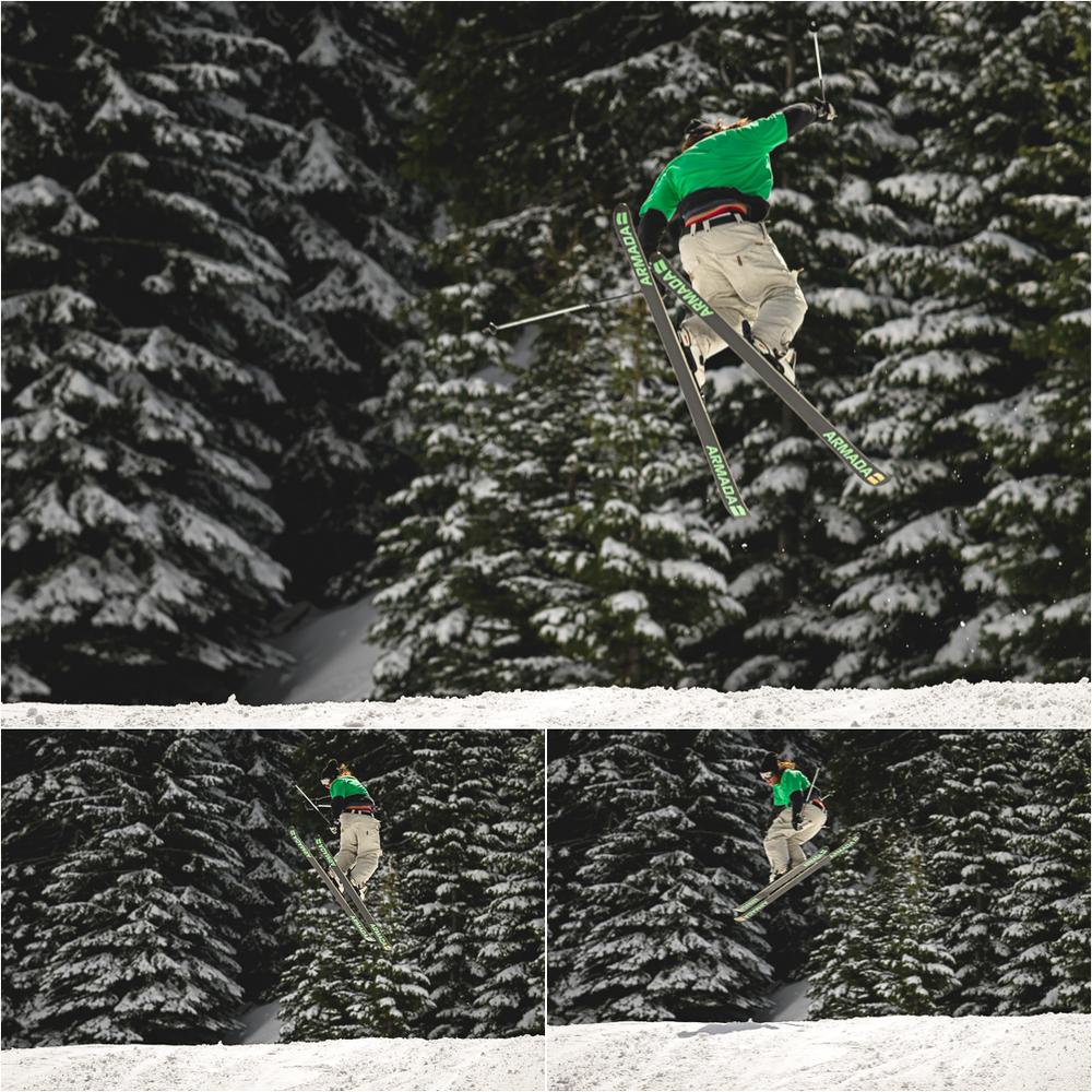 skiier jumping
