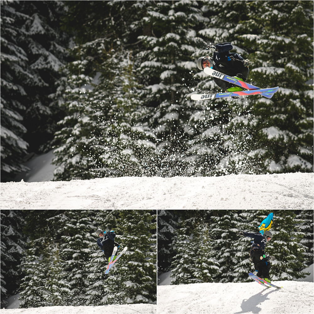 bluewood skiier jumping