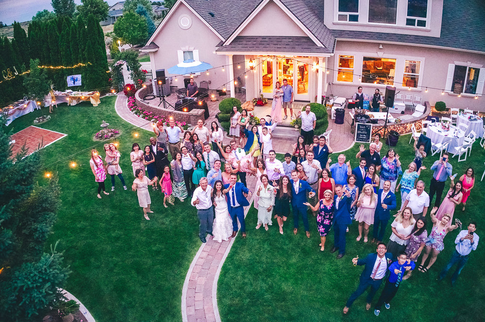 wedding aerial drone photographers in tricities