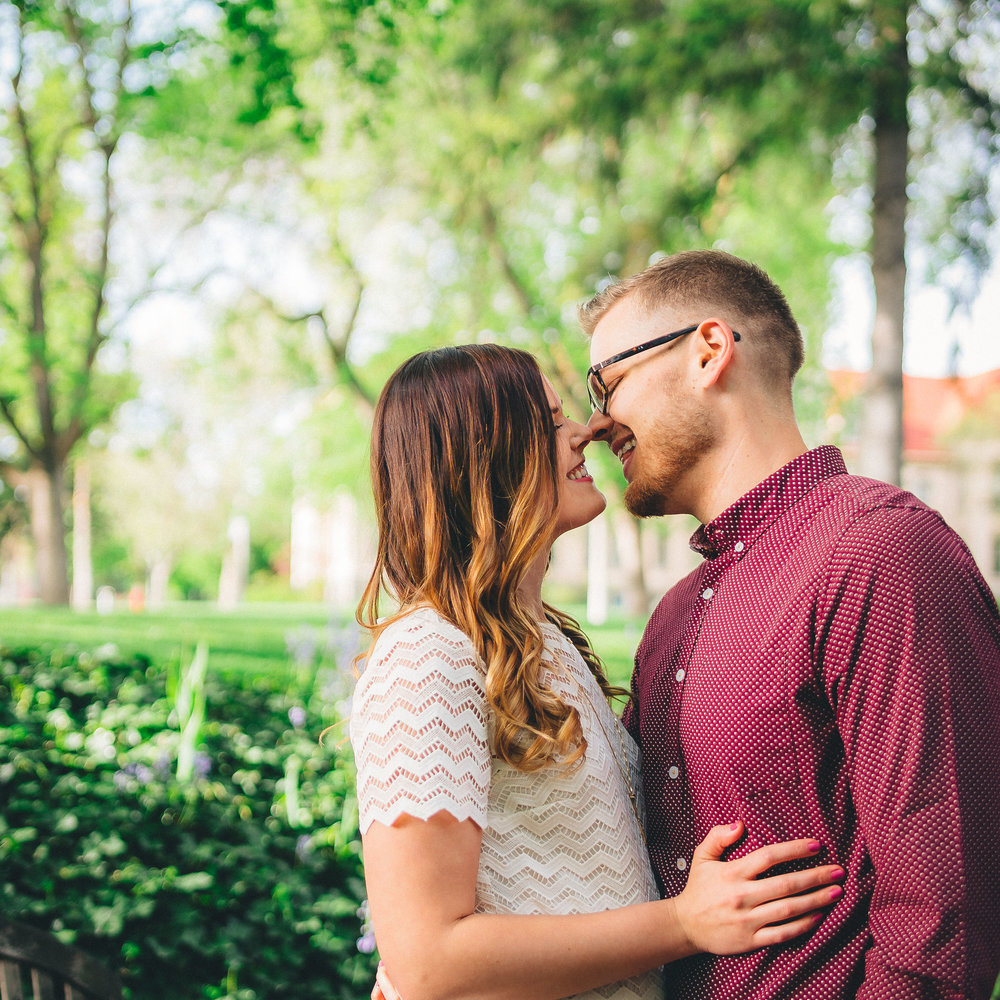 college place engagement photographer