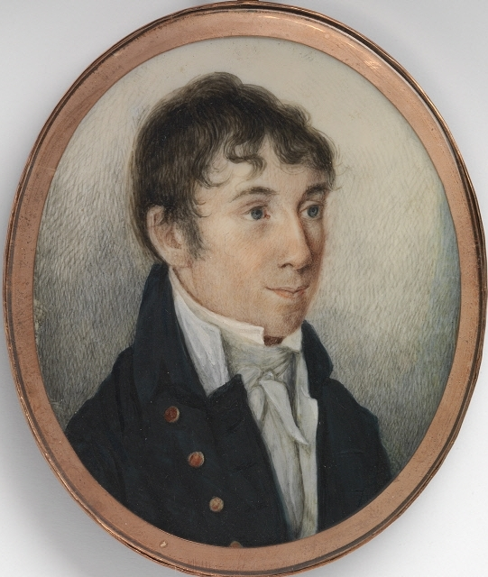 Portrait of Charles Brockden Brown by his friend William Dunlap, 1806.  National Portrait Gallery, Smithsonian Institution.