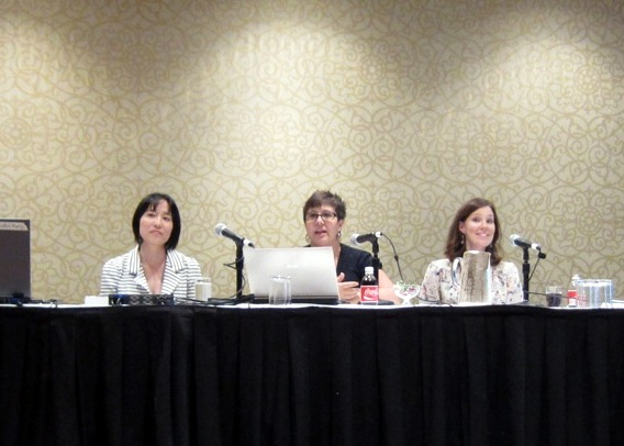 Me and a couple other fabulous ladies on a small blogger panel at BlogHer 12