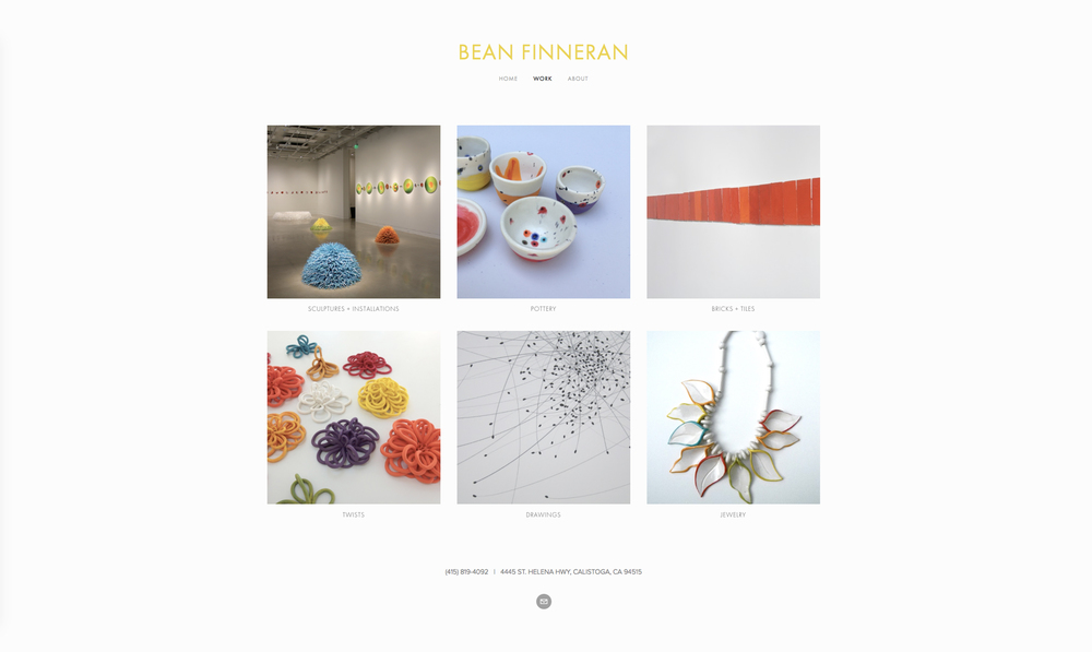 Bean Finneran: Napa Valley Sculptor site + portfolio