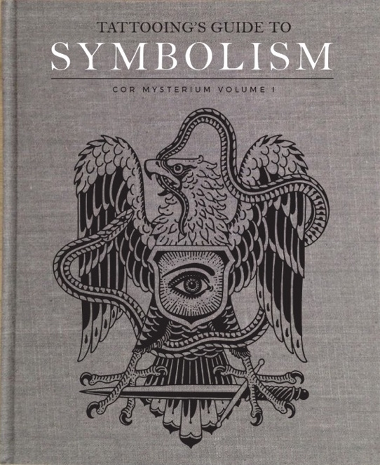 """TATTOOING'S GUIDE TO SYMBOLISM Vol. 1 Standard Edition 9.5"""" x 12"""" Gray Linen."""