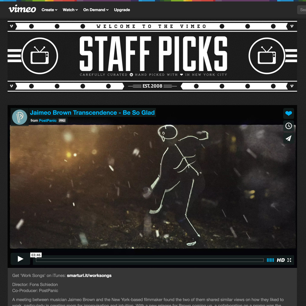 VIMEO Staff Picks April 22 2016