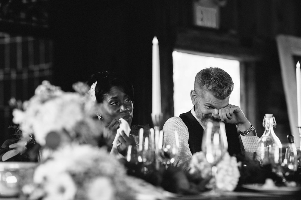 intimate-morning-wedding-farm-south-pond-farms-country-peterborough-ptbo-best-toronto-wedding-photographer-details-reception-bride-and-groom-toasts-crying-emotional.jpg