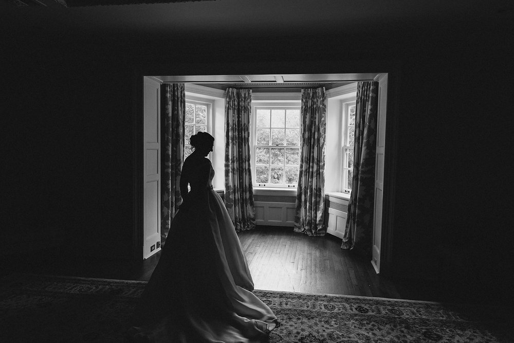 Graydon-Hall-Manor-Wedding-Toronto's-Best-Wedding-Photography-Ryanne-Hollies-Intimate-Small-Modern-Colourful-Wedding-Bride-Getting-Ready-Ferre-Sposa-Gown-bridal-portrait-elegant-vintage-modern-bride-silhouette.jpg