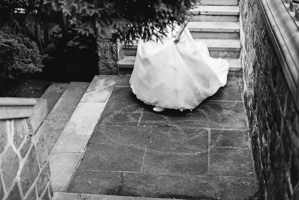 Graydon-Hall-Manor-Wedding-Toronto's-Best-Wedding-Photography-Ryanne-Hollies-Intimate-Small-Modern-Colourful-Wedding-groom-waiting-for-bride-for-first-look-anticipation-bride-walking.jpg