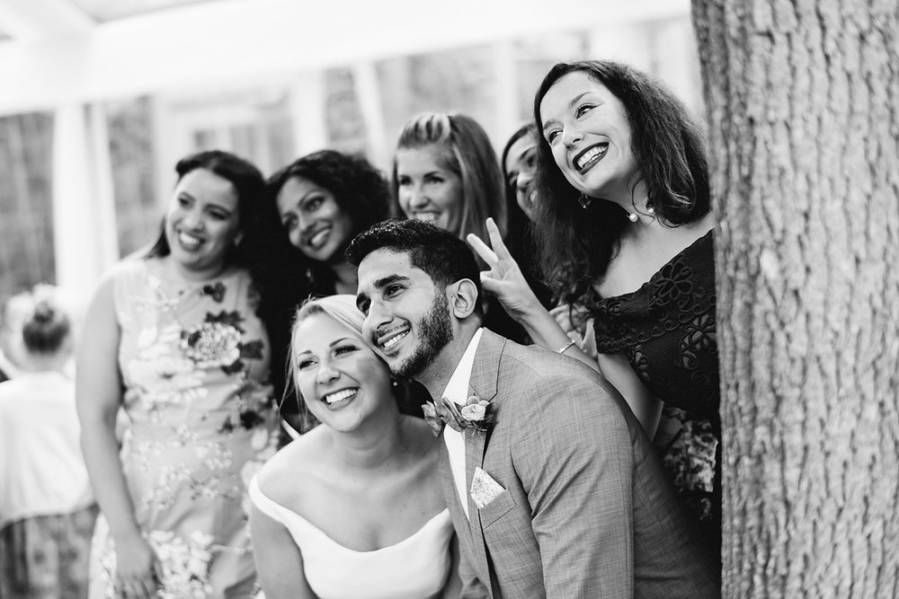 Graydon-Hall-Manor-Wedding-Toronto's-Best-Wedding-Photography-Ryanne-Hollies-Intimate-Small-Modern-Colourful-Wedding-reception-guests-candids-with-bride-and-groom-selfie.jpg
