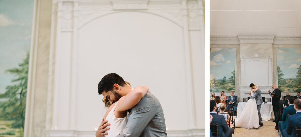 spread-10-Graydon-Hall-Manor-Wedding-Toronto's-Best-Wedding-Photography-Ryanne-Hollies-Intimate-Small-Modern-Colourful-Wedding-ceremont-bride-and-groom-first-hug-mixed-just-married-muslim-canadian-wedding.jpg