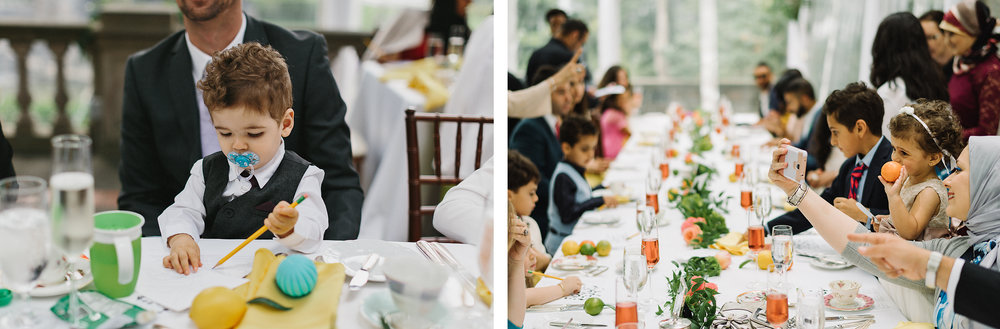spread-12-Graydon-Hall-Manor-Wedding-Toronto's-Best-Wedding-Photography-Ryanne-Hollies-Intimate-Small-Modern-Colourful-brunch-wedding-reception-guests-enjoying-games-x-and-os-cute-baby.jpg