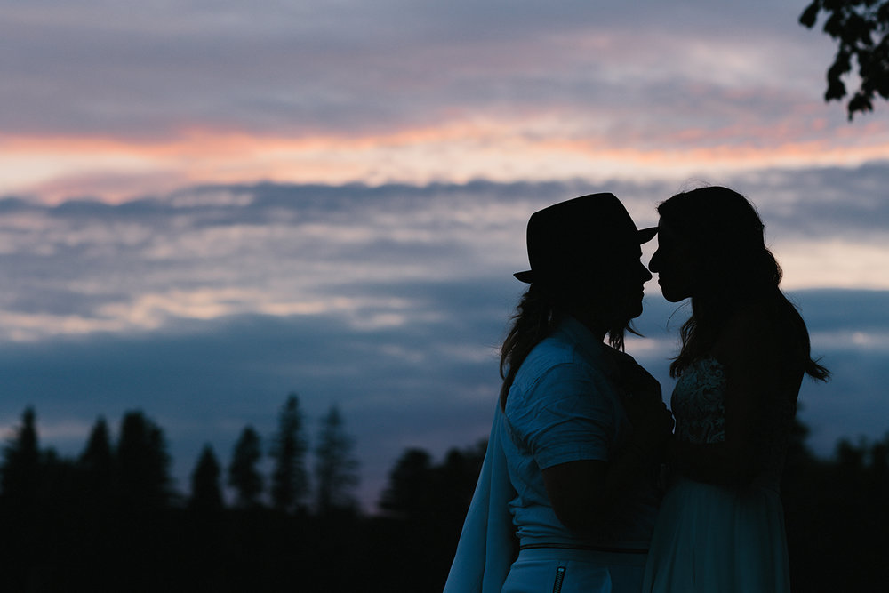 cambium-farms-wedding-ryanne-hollies-photography-gay-wedding-lgbtq-trendy-cool-badass-junebug-weddings-inspiration-wedding-reception-in-a-barn-portraits-at-sunset-bride-and-bride-golden-hour-silhouette.jpg