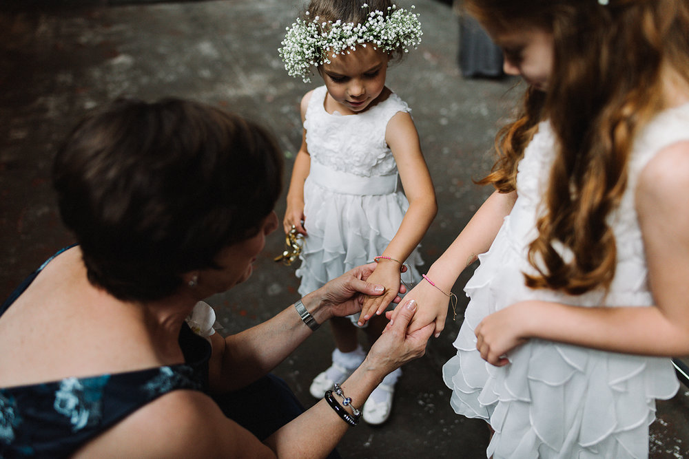 toronto-wedding-photographer-ryanne-hollies-photography-airship37-distillery-district-wedding-day-modern-minimalist-venues-in-bride-getting-ready-candid-documentary-mom-and-flowers-girls-together.jpg