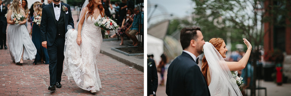 260torontos-best-documentary-wedding-photographers-ryanne-hollies-photography-fine-art-photojournalism-artistic-moody-toronto-airship37-distillery-district-groom-and-bride-portraits-candid-bride-walking-through-busy-streets-waving.jpg