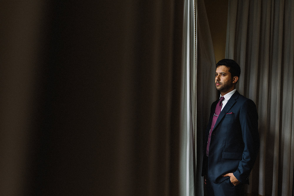 Best-Toronto-Wedding-Photographers-Afforadable-Candid-Photojournalistic-Photography-Toronto-Gladstone-Hotel-Wedding-Venue-Downtown-Urban-Brunch-Wedding-Inspiration-groom-getting-ready-moody-portrait.jpg