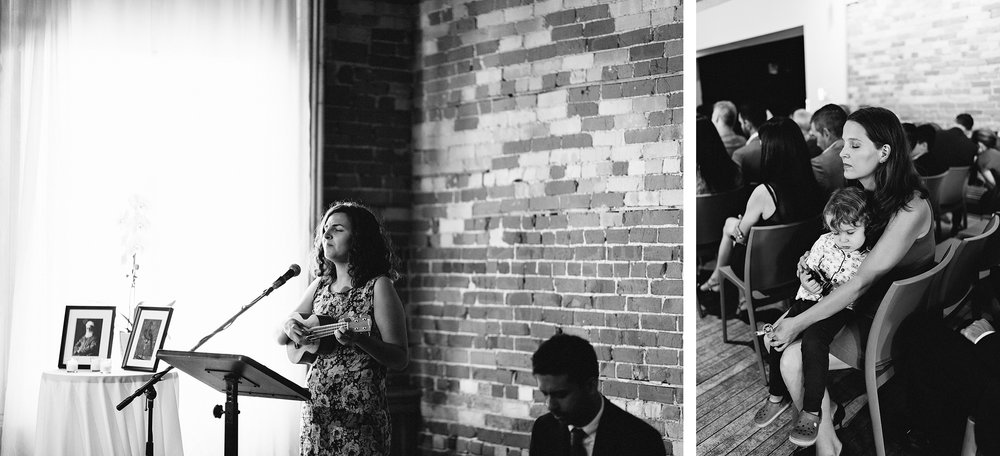 downtown-toronto-wedding-photographer-ryanne-hollies-photography-airship37-distillery-district-wedding-day-modern-minimalist-venues-in-toronto-cool-trendy-hipster-mirror-wall-greeting-guests-grandma-bw.jpg
