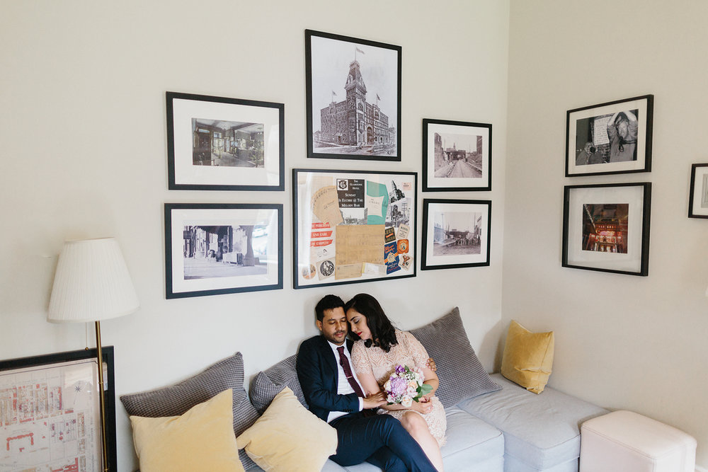 Best-Analog-Film-Wedding-Photographers-Toronto-Downtown-Urban-Gladstone-Hotel-Venue-Inspiration-Top-Venues-in-Toronto-boutique-hotel-candid-documentary-brunch-wedding-couples-portraits-in-bridal-suite.jpg