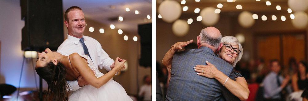 20-candid-bride-and-groom-dancing-dip-reception-At-Eganridge-Resort-Venue-Muskoka-Ontario-Wedding-Photography-by-Ryanne-Hollies-Photography-Toronto-Documentary-Wedding-Photographer.jpg