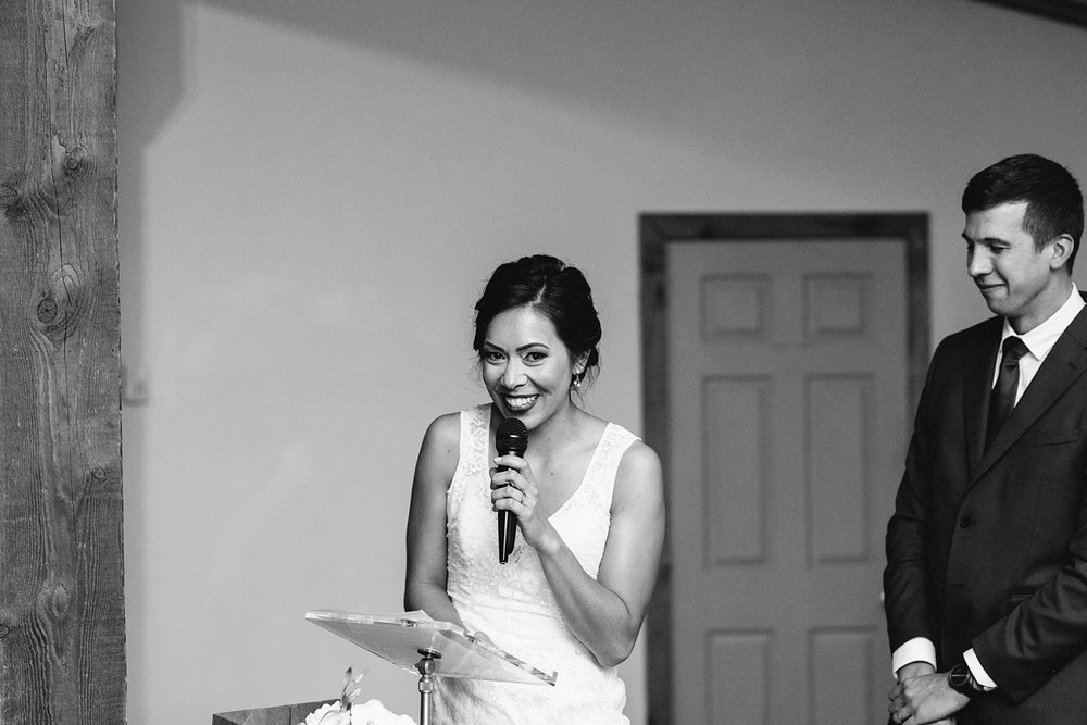 bw-reception-bride-and-groom-speech-emotional-beautiful-memories-toronto's-best-analog-documentary-wedding-photographers-candid-photography-london-ontario-wedding-inspiration.jpg