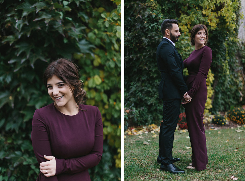 11-toronto-restaurant-elopement-small-wedding-intimate-portraits-of-bride-in-purple-jumpsuit-old-ivy-buildings-fall-editorial.jpg