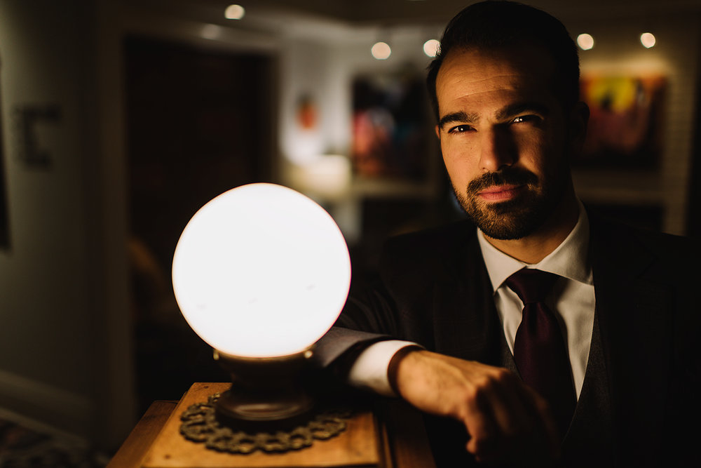Prince-Edward-County-Wedding-Photographer-Drake-Hotel-Elopement-Venue-Reception-Groom-Portrait-with-Light-Orb.jpg