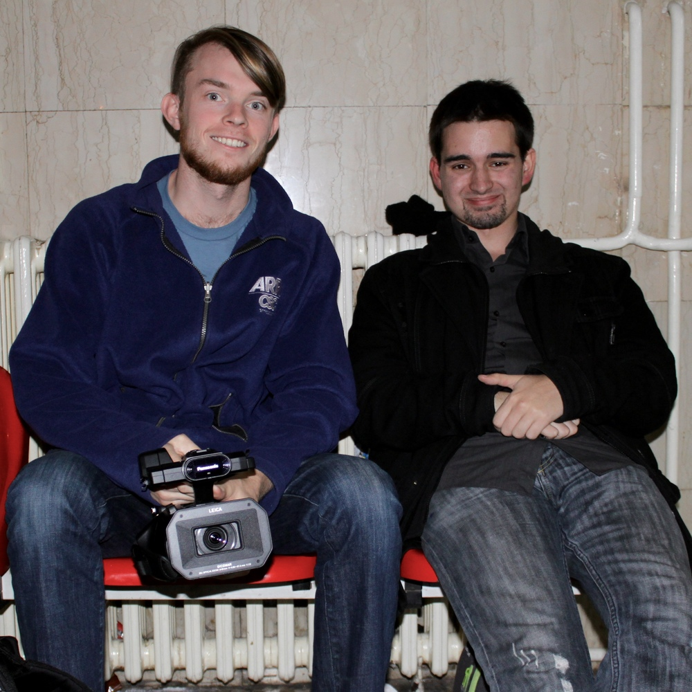 filmmakers Nelson and tibor in subotica, serbia