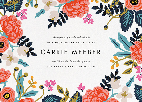 bridal shower invitation from wwwpaperlesspostcom