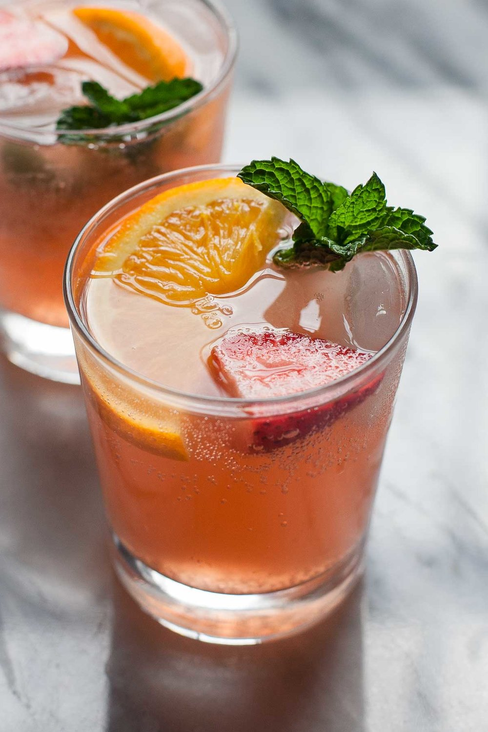 Strawberry Orange Ginger Fizz :