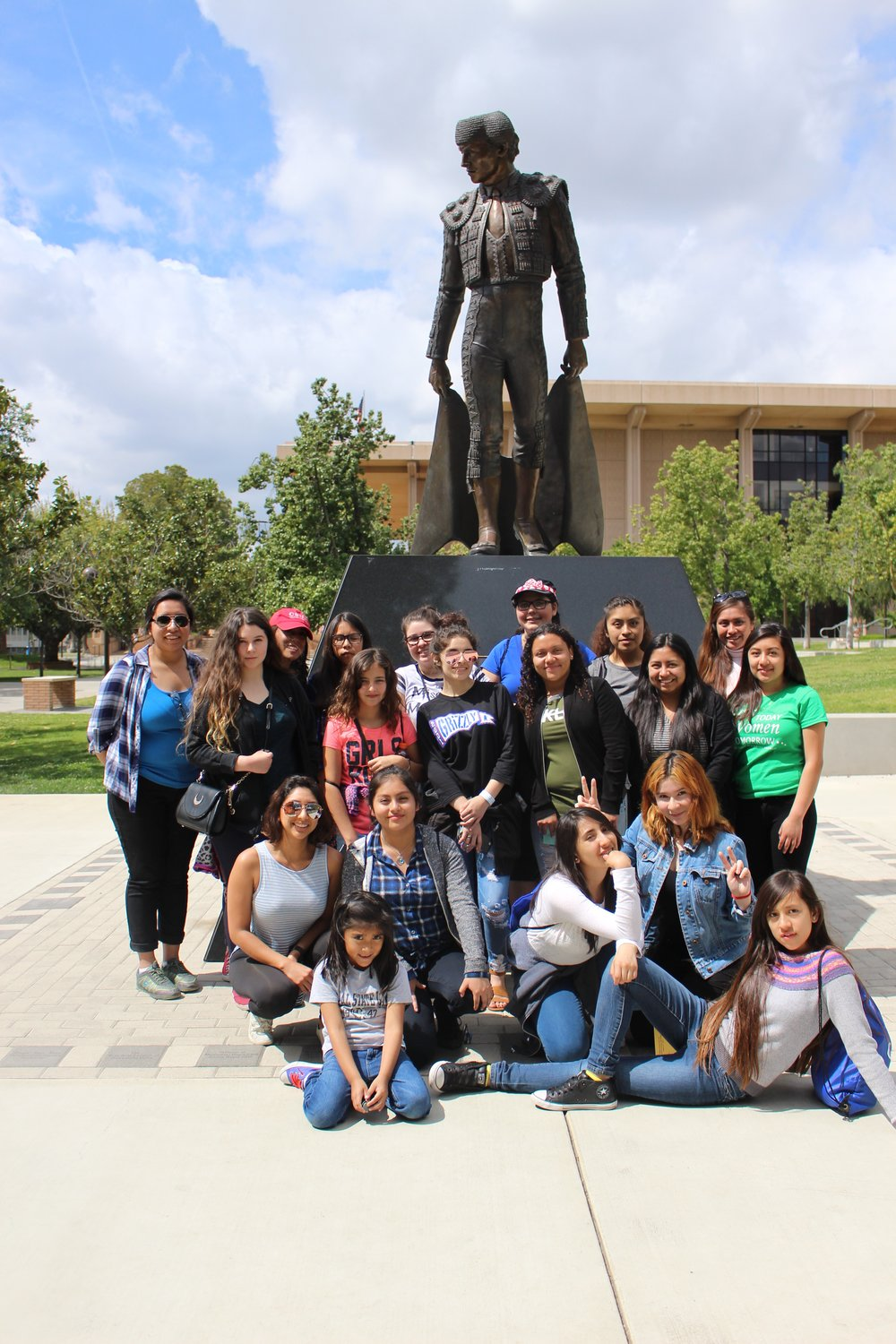 Cal State Northridge campus tour lead by three GTWT alumni.    March 15, 2017