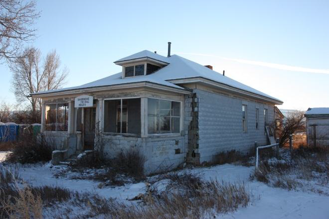 Building 263 sits on the Trout Creek Road on the Wind River Indian Reservation