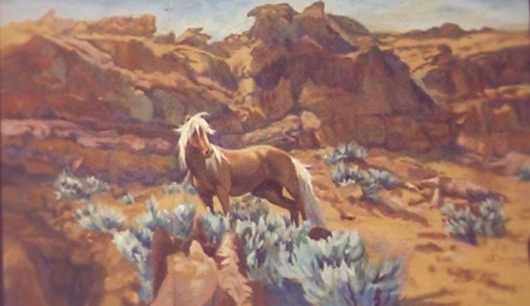 Desert Dust mural in Rawlins, WY