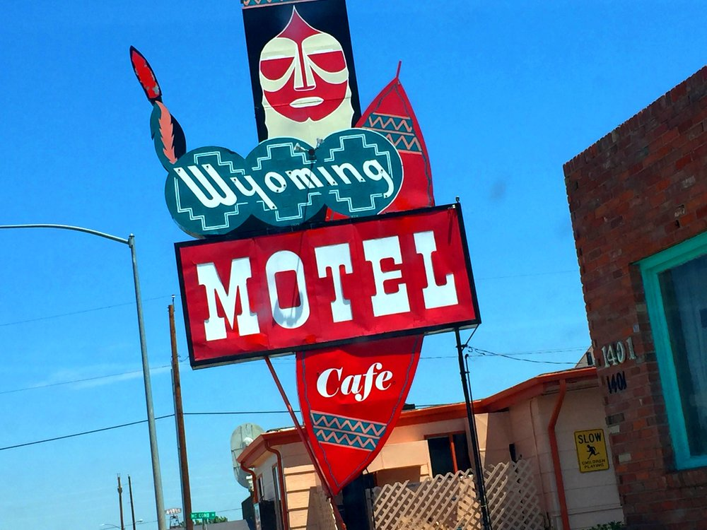 The sign for the Wyoming Motel has become an iconic image in Cheyenne.