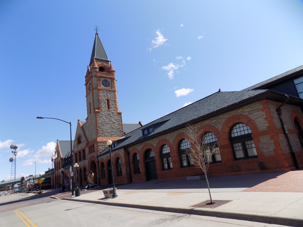 North facade of the Cheyenne Union Pacific Depot