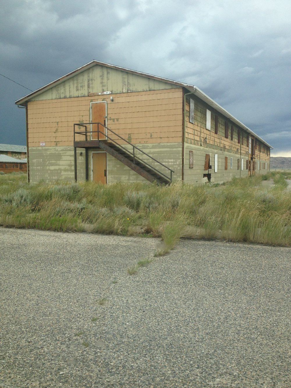Jeffrey City is dotted with abandoned apartment buildings.