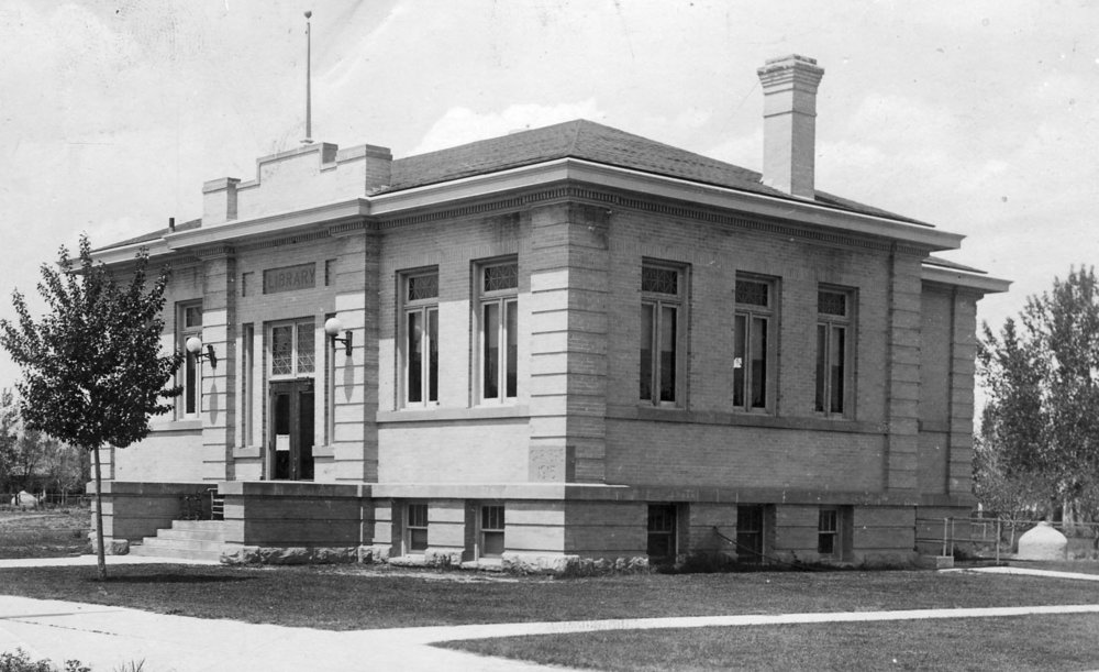 The original Park County Public Library Carnegie building was demolished in 1965.