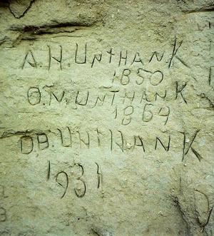 Unthank signatures Register Cliff