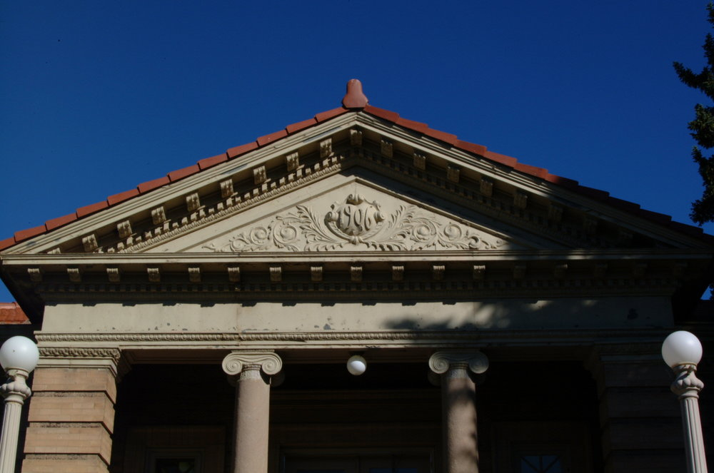Green River's Carnegie library features a bold Classical Revival style that was popular in the United States in the early 20th century.