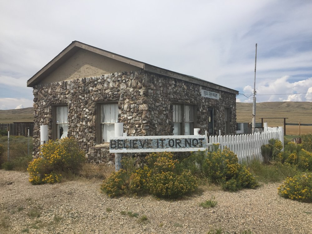 Wyoming's Fossil Cabin near Medicine Bow is a good example of a cultural resource related to Wyoming's transportation history (in this case, the Lincoln Highway)