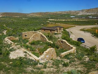 What remains of the Stagecoach stop, and my modern coach parked where the Overland Trail was located.