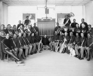 9th Cavalry Band, Fort D.A. Russell 1911- 1912. Cpt. Hamilton, Band Leader. Wyoming State Archives