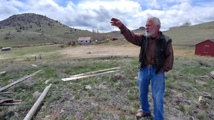 Pictured above is Jim Mackenzie, the current owner of the F.S. King Brothers Ranch Homestead.