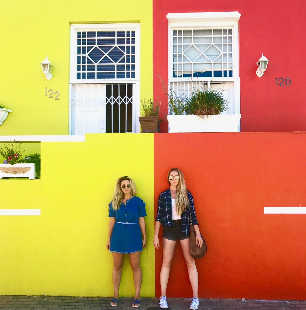 "When the buildings are too ""Instagramable"" to pass up. Again, the brilliant colors of the Bo-kaap neighborhood."
