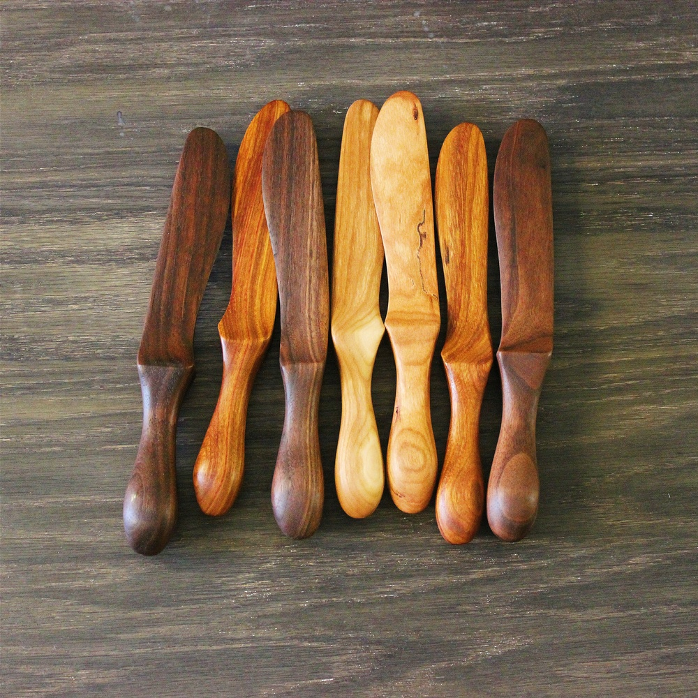 Variety of butter knives