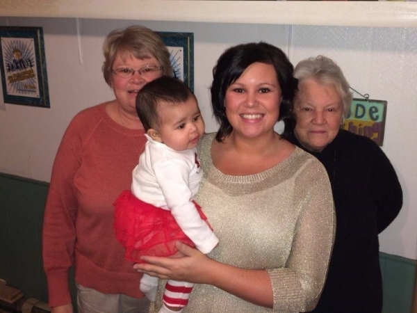 Four generations at the team Christmas party!