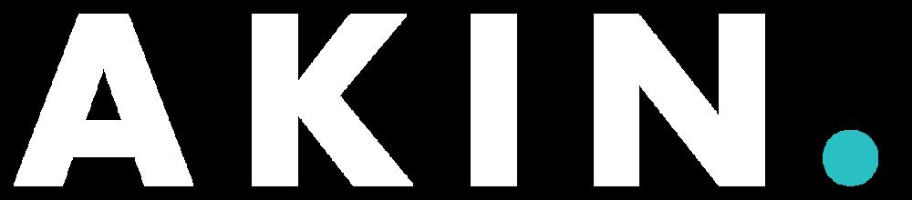 Akin White Logo