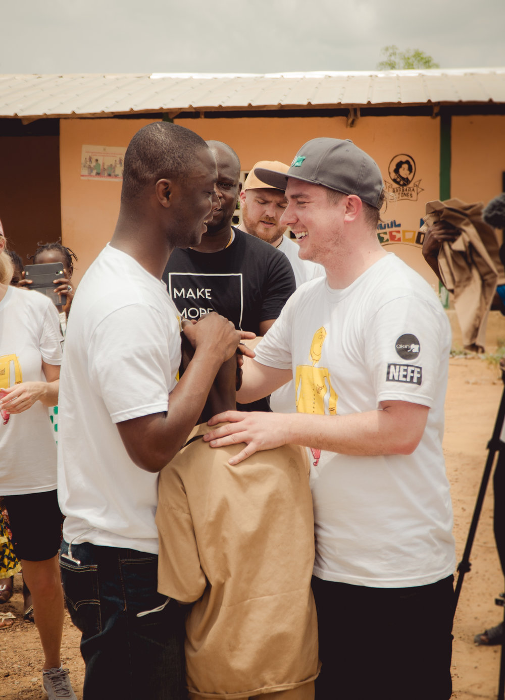 Since the day we met, the dream was always that we could provide the school uniforms for the kids in the schools he builds and now we have made that dream a reality.   - Ben