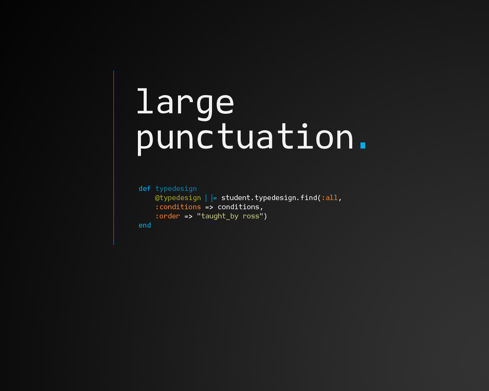 Punctuation is optimized for coding.
