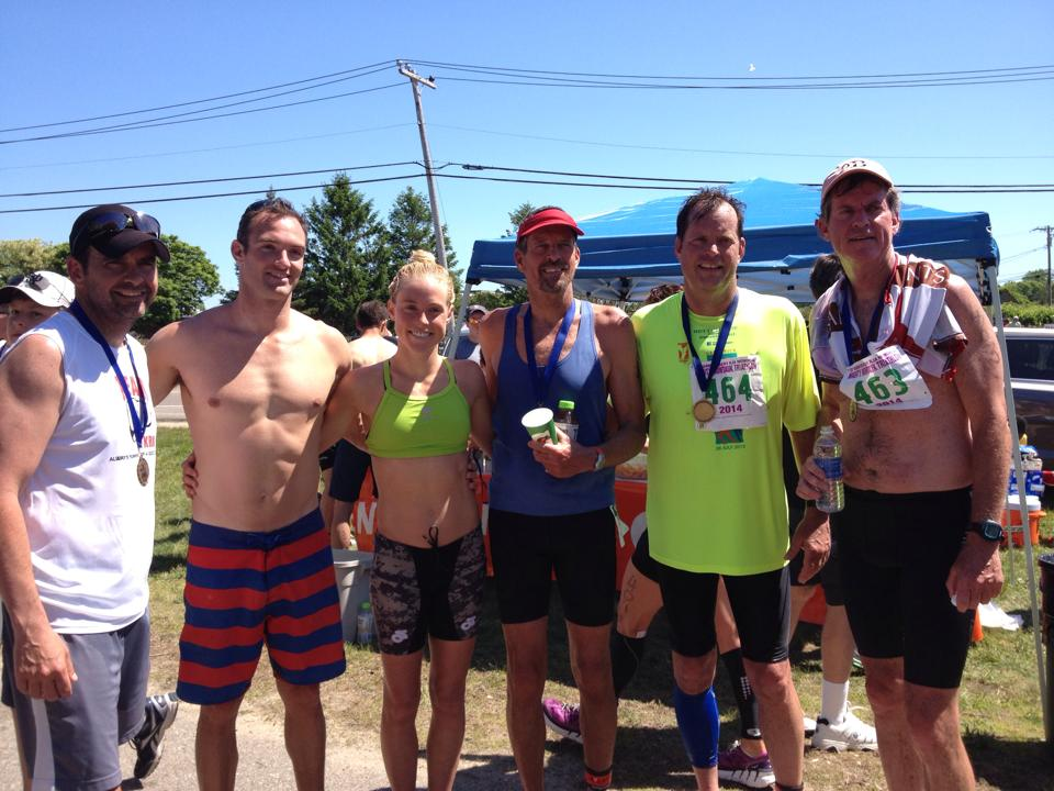 Mighty Montauk 2014:Uncle Pete, Jeff Hussey (my fiancé), Me, Uncle Mike, my dad, Uncle Rob